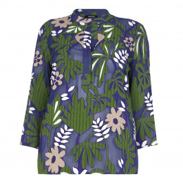 ELENA MIRO botanical print Tunic - Plus Size Collection