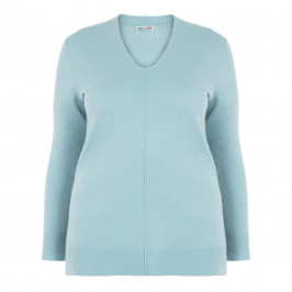ELENA MIRO WOOL AND CASHMERE SWEATER BLUE - Plus Size Collection
