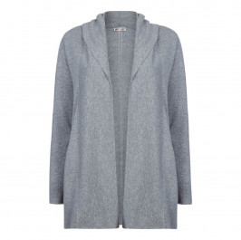 ELENA MIRO WOOL AND CASHMERE GREY HOODY - Plus Size Collection