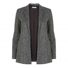 ELENA MIRO HERRINGBONE BLAZER  - Plus Size Collection