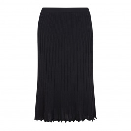 ELENA MIRO black lurex pleat effect KNITTED SKIRT - Plus Size Collection