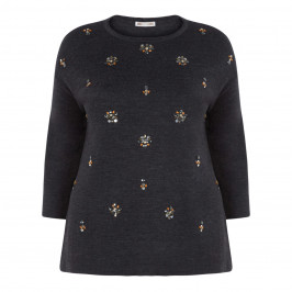 ELENA MIRO EMBELLISHED KNITTED TUNIC - Plus Size Collection