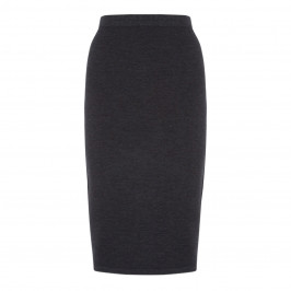 ELENA MIRO PULL-ON WOOL BLEND PENCIL SKIRT ANTHRACITE - Plus Size Collection