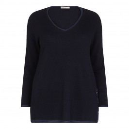 ELENA MIRO WHITE LABEL NAVY SWEATER - Plus Size Collection
