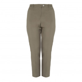 ELENA MIRO KHAKI FRONT CREASE TROUSER - Plus Size Collection