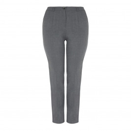 ELENA MIRO FRONT FASTEN TROUSER GREY - Plus Size Collection