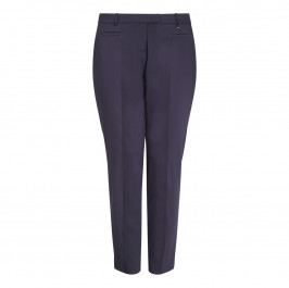 ELENA MIRO navy ankle grazer TROUSERS - Plus Size Collection