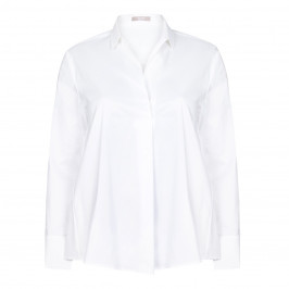 ELENA MIRO white pleat front Tunic shirt - Plus Size Collection