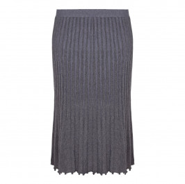 ELENA MIRO grey lurex pleat effect KNITTED SKIRT - Plus Size Collection