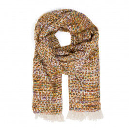 ELIZA GRACIOUS TWEED-STYLE SCARF MULTI-COLOUR - Plus Size Collection