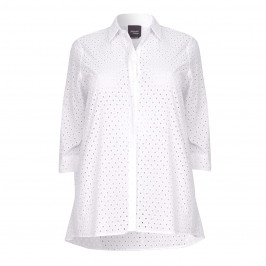 PERSONA broderie anglaise a-line SHIRT - Plus Size Collection