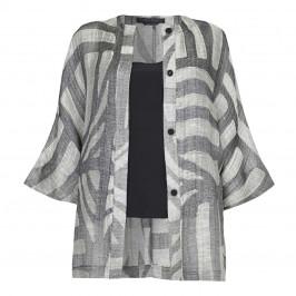 Marina Rinaldi oversize linen mix JACKET - Plus Size Collection
