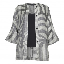 Marina Rinaldi oversize linen mix JACKET - Plus Size Collection