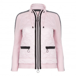 FABER PADDED ZIP-UP JACKET WITH WORD TRIM - Plus Size Collection