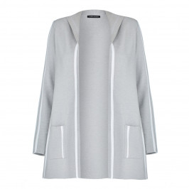FABER KNITTED HOODED CARDIGAN GREY - Plus Size Collection