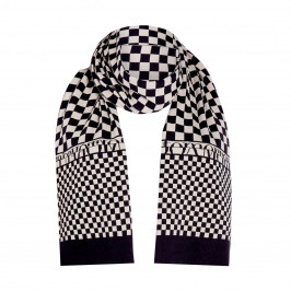 FABER INTARSIA CHECK SCARF - Plus Size Collection