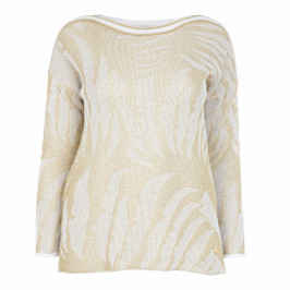 FABER WHITE AND GOLD SWEATER - Plus Size Collection