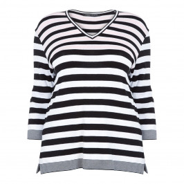 FABER V NECK STRIPE SWEATER - Plus Size Collection