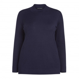 FABER HIGH-NECK NAVY SWEATER - Plus Size Collection