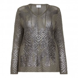 FABER openwork knit SWEATER - Plus Size Collection