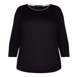 FABER STRETCH JERSEY TOP BLACK - Plus Size Collection