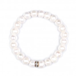Beige pearls BRACELET - Plus Size Collection