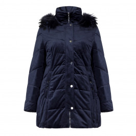 FRANDSEN VELVET HOODED PUFFA COAT - Plus Size Collection
