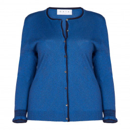 GAIA LUREX GITANE BLUE CARDIGAN - Plus Size Collection