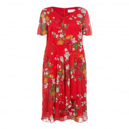 GAIA FLORAL PRINT TEA DRESS - Plus Size Collection
