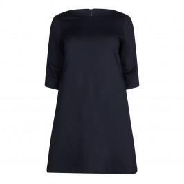 GAIA  PUNTO MILANO DRESS WITH VELVET TRIMS - Plus Size Collection