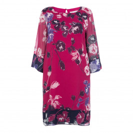 GAIA FUCHSIA PRINT SHIFT DRESS - Plus Size Collection