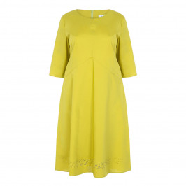 GAIA LIME POPLIN DRESS - Plus Size Collection