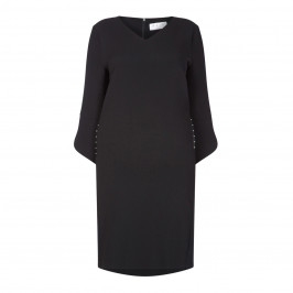 GAIA BLACK DRESS WITH STUD DETAIL - Plus Size Collection