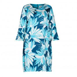GAIA PRINT DRESS TEAL - Plus Size Collection