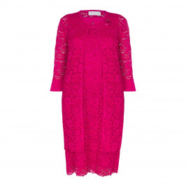 GAIA PINK LACE DRESS+JACKET - Plus Size Collection
