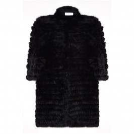 GAIA black lapin KNITTED jacket