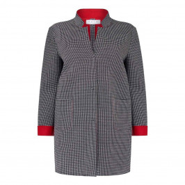GAIA HOUNDSTOOTH LONG JACKET - Plus Size Collection