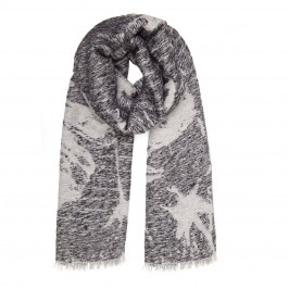 GAIA LIFE GREY SEQUINED JACQUARD SCARF - Plus Size Collection