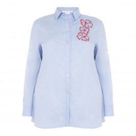 GAIA SHIRT WITH FLORAL EMBROIDERY - Plus Size Collection