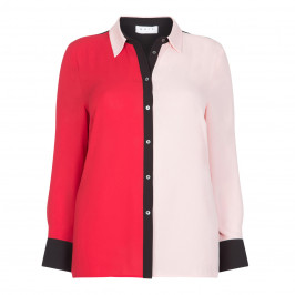 GAIA RED AND PINK SHIRT - Plus Size Collection
