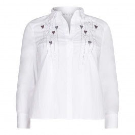 GAIA classic SHIRT with silver embroidery - Plus Size Collection