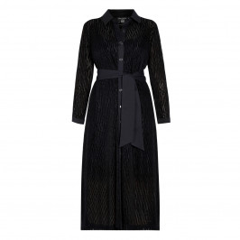 GEORGEDÉ BLACK LACE SHIRT DRESS WITH SLIP