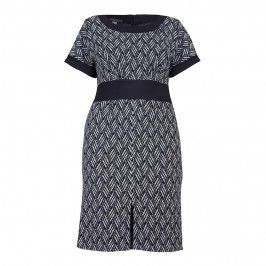 GEORGEDE BASKET WEAVE JACQUARD DRESS - Plus Size Collection