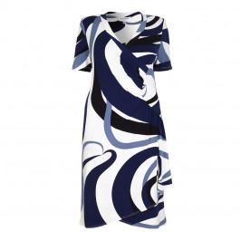 GEORGEDÉ blue swirl print wrap DRESS - Plus Size Collection