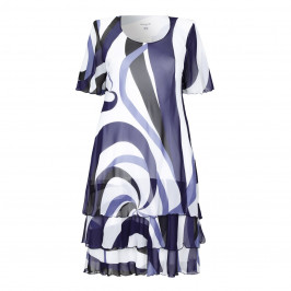 GEORGEDÉ  layered chiffon swirl print DRESS - Plus Size Collection