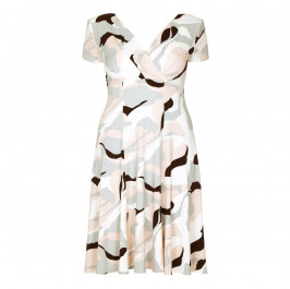 GEORGEDÉ nude swirl print fluid jersey DRESS - Plus Size Collection