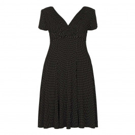 GEORGEDÉ black polka dot DRESS - Plus Size Collection