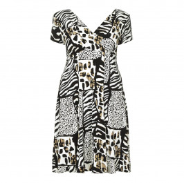 GEORGEDÉ safari inspired fluid jersey DRESS - Plus Size Collection