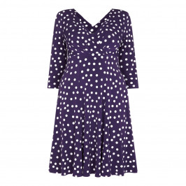 GEORGEDÉ PURPLE POLKA DOT DRESS - Plus Size Collection