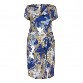 GEORGEDÉ blue and gold paisley DRESS - Plus Size Collection